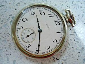 Vintage ELGIN USA 9 Jewels Pocket Watch