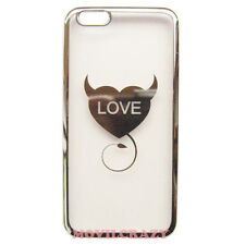"FUNDA TAPA GEL TPU PARA IPHONE 6 PLUS 5.5"" DIBUJO CORAZÓN LOVE PLATEADO"