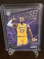 2019 - 2020 Panini Optic LeBron James My House Insert Los Angeles Lakers Mint