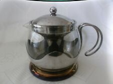 LACAFETIERE stainless steel / glass tea pot  - 4 cup