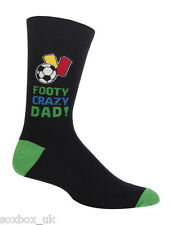 Mens Football Crazy Dad Fathers Day Novelty Gift Box Socks  7-11 Uk, 40-45 Eur