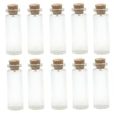 Small Glass Bottles With Cork Stopper | Pendant | Vial | Cute Mini Jars (1 ML)