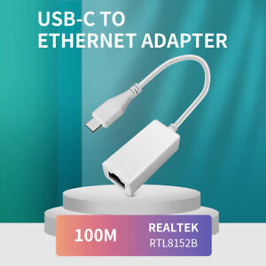 USB Type C to RJ45 Ethernet Network Lan Adapter Cable for PC win10/8/7 mac os