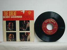 "The Great Benny Goodman, Columbia B-8204, 1950's EP, 45 RPM, 7"""