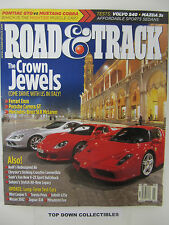 Road and Track Magazine  July  2004  Crown Jewels-Carrera GT, Enzo & SLR McLaren