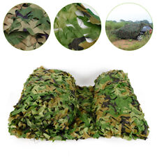 26 x 26Ft Woodland Leaves Camouflage Net Hunting Camo w/ String Netting