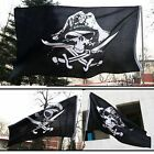 5'x3' Fashion Skull and Cross Crossbones Sabres Swords Jolly Roger Pirate Flags