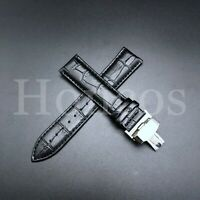 20MM BLACK LEATHER WATCH BAND STRAP CLASP FOR ECODRIVE CITIZEN CALIBRE 8700