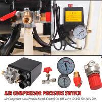 175PSI 20A Compresor de aire Interruptor de presión Válvula de control 4puertos