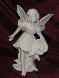 Ceramic Bisque Rose Fairy Ready to Paint U-Paint Mystical Fantasy Gare