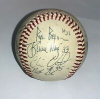 Mystery Autographed Multiple Signatures Team Baseball