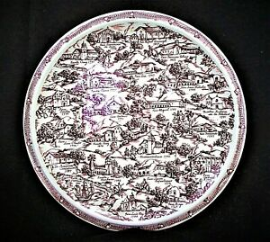 VINTAGE 1940'S CALIFORNIA MISSIONS 14 IN. CERAMIC CHARGER BY VERNON KILNS