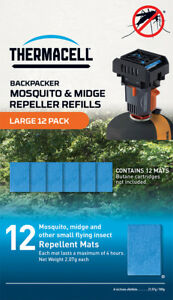 Thermacell Backpacker Mosquito and Midge Repeller REFILLS Large 12 Pack
