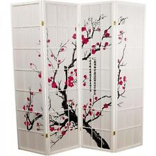 Room Divider Paravent Folding Screen Japanese Shoji Screen Rice Paper 4 Panel