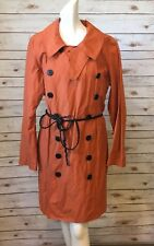 Wilson Leather Rain Jacket Ladies XL Mid Calf Leather Belt L/S Light Weight