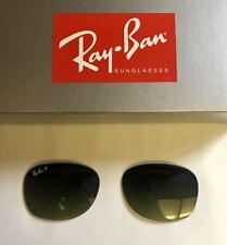 Ray-Ban RB2132 Wayfarer Green Lens Classic Sunglasses - Black
