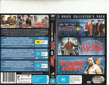 Evolution-2001-David Duchovny/Bulletproof Monk/Welcome To The Jungle-Movie-3 DVD