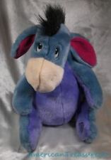 "Disney Store Plush 13"" Pooh Grumpy Blue Eeyore The Donkey Cling Tail & Sewn Eyes"