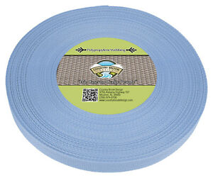 Country Brook Design® 3/4 Inch Baby Blue Polypro Webbing, 50 Yards