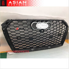 for AUDI A4 B9 8W RS4 style FRONT GRILLE Honeycomb Mesh black 2016+