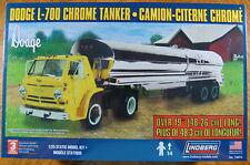 Lindberg 1/25 Scale Dodge L-700 Tilt Cab with Chrome Tanker Trailer No. 73074