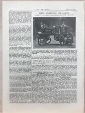Steam Fire Engine For Barnet Made In Greenwich: 1908 Engineering Magazine Print