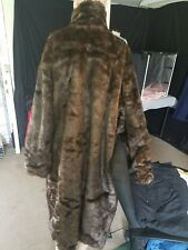 mark andre reversable genuine leather to artificial fur unisex long coat