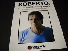 ROBERTO CARLOS 50 Amazing Years 2015 PROMO DISPLAY AD mint condition