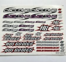 1/10 - 1/8 DECAL/STICKER SHEET/RC/ CAR-Tamiya/HPI/decals/HOT BODIES / HB Cyclone