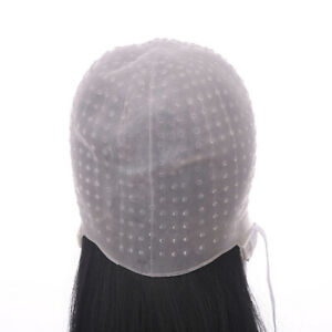 Reusable Hair Coloring Highlighting Dye Cap Hat Frosting & Meal Hook Tipping
