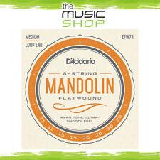 D'Addario EFW74 Phosphor Bronze Flatwound Mandolin Strings Medium 11-36