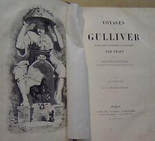 SWIFT GRANDVILLE - VOYAGES DE GULLIVER DANS DES CONTREES LOINTAINES - 1863