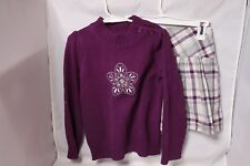 Gymboree Girls Sweater/Skirt Outfit  - Purple - Size S (5-6)