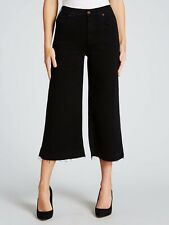 7 for all mankind Women's Culotte Unrolled Austin Black Size 27 BNWOT