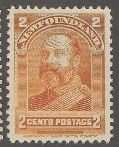 Newfoundland #81 Mint Never Hinged Very Fine
