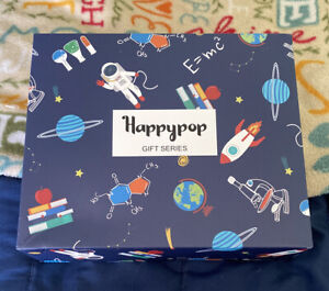 NEW Happy Pop Socks Science Series Gift Set SOLD OUT 6 Pair Geek Nerd Teacher(A)