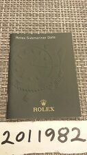 Rolex Watch Manual Instruction Booklet English Ver. 2012 for Submariner 116610