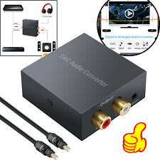 Digital to Analog Audio Converter RCA Adapter Optical Coaxial Cable 3.5mm Jack