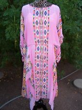 NWOT~$258~Southwestern Aztec Handkerchief Dress~L~Vintage Collection~Tunqiue