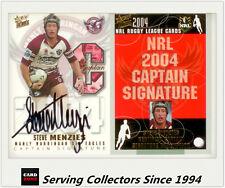 2004 Select NRL Authentic Captain Signature Card CSR7 Steve Menzies-Ultra Rare!
