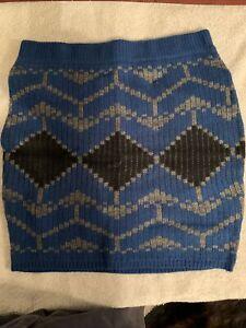 Victoria's Secret Women's Size Small Mini Skirt Blue