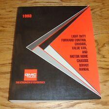 1993 GMC Truck Light Duty Van Motor Home Forward Control Shop Service Manual 93