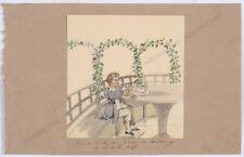 "Princess Henriette Odescalchi (1800-1852) ""Son Victor in Karlburg"", watercolor"