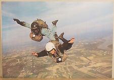 (PRL) SKY DIVERS PHOTO FOTO SPORT VINTAGE AFFICHE ART PRINT POSTER PARACADUTISTI