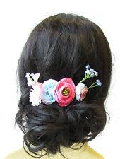 Light Blue Blush Pink Rose Gypsophila Flower Hair Comb Bridesmaid Headpiece 1578