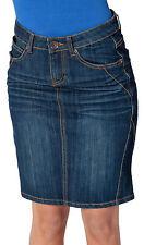 Gonne e minigonne da donna, taglia comoda blu lunghezza al ginocchio