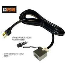 Swan 117-XC POWER CORD FOR POWER SUPPLY WITH FUSE *SHIPS DAILY FREE*