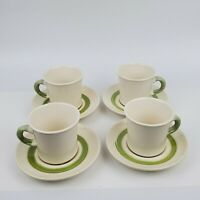 Set of 4 Cups & Saucers Vintage 1970's FLORAL Franciscan Earthenware 8pc total
