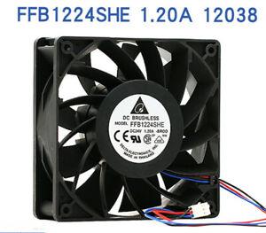 Delta FFB1224SHE-BR00 12038 24V 1.20A 3-pin large air volume inverter fan