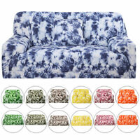 1/2/3/4 Seater Floral Stretch Elastic Sofa Cover Slipcover Furniture Protector
